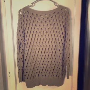 Forever 21 Brown Long Sleeve See Through Blouse SP